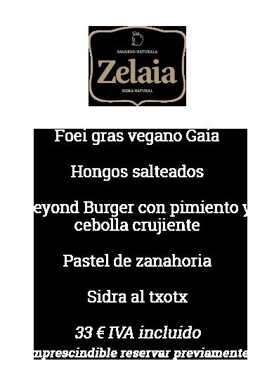 menu sidreria vegano o vegetariano